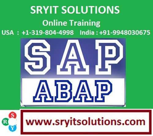 Sap abap project support | abap online training| abap certification training