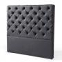 Luxo Verona King Upholstered PU Leather Headboard - Black