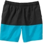 BLACK/TEAL MENS CLASSIC HERO SHORTS SIZE 18