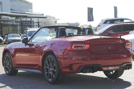 Contact dealer2017 abarth 124 spider roadster vehicle details vehicle	2017 abarth 124 348 series 1 spider costa brava 1972 red 6 speed sports automatic roadster body colour	costa brava 1972 red trim colour	black leather doors	2 seats	2 cylinders	4 fuel typ