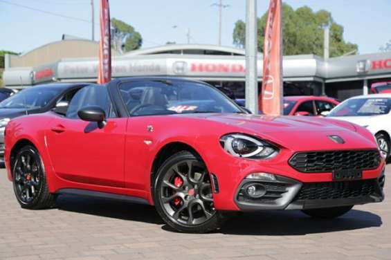 Contact dealer2017 abarth 124 spider roadster vehicle details vehicle	2017 abarth 124 348 series 1 spider costa brava 1972 red 6 speed sports automatic roadster body colour	costa brava 1972 red trim colour	black leather doors	2 seats	2 cylinders	4 fuel ty