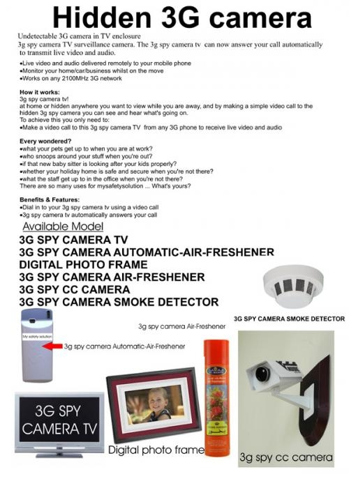 Hidden 3g tv camera