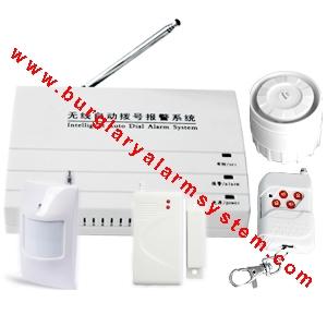 Anti-burglar gsm gprs sms mms alarm system for home security