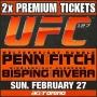 2x UFC 127 ULTIMATE FIGHTING CHAMPIONSHIP TICKETS SYDNEY
