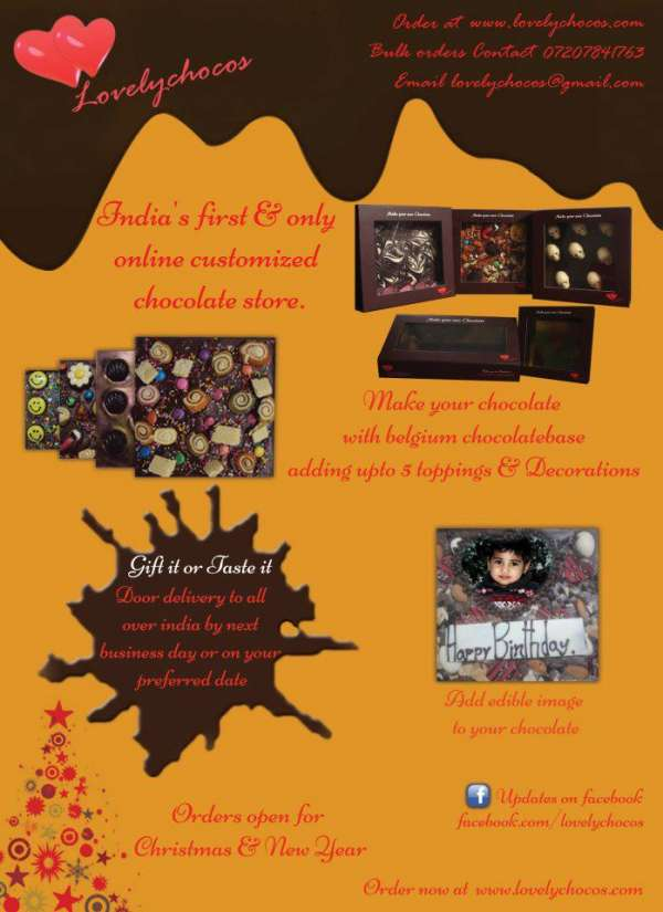 Gift customized chocolate to your loved ones in india