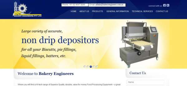 Depositor bakery products in australia