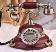 Beautiful hand made vintage telephones & decorative clocks