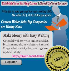 Find online writer jobs at your own place now!?