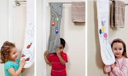 Great offer!!! kids' hand towels that snap onto towel rack!
