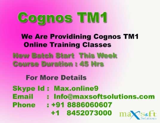 We are providing cognos tm1 online training