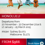Cheap flights to Honolulu from Sydney for only $1,073