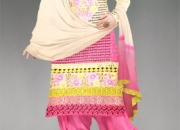 online shopping of cream-baby pink Georgette salwar kameez from unnati silks