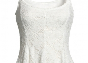 White Fit-And-Flare Lace Top