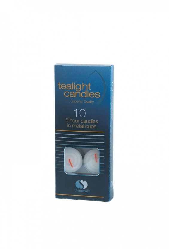 5 hour premium tealight candles (pack of 10)
