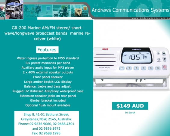 Choose test equipment online at andrews communication systems