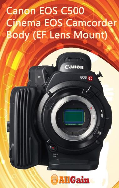 Buy canon eos c500 cinema eos camcorder body (ef lens mount) online