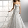 Wedding Dress A Line Floor Length Two In One Tulle Sweetheart and Strapless With Lace