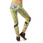 Pink Sun Yellow With Mesh Panels Womens Leggings