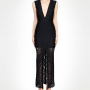 Affordable price Paisley Lace Deep V Gown at kokolu.com.au