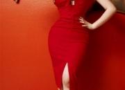 Beauty night aurora mini dress in black red