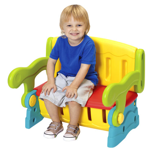 Fisher-price sit 'n munch storage bench - children's play equipment - converts from activi