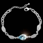 Stunning Aquamarine Rose Tear Jewellery Bracelet