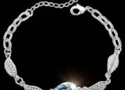 Stunning aquamarine rose tear jewellery bracelet