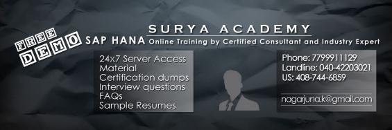 Sap hana & sap s/4 hana - online training courses