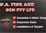 Garage Equipment - W. A. Fink and Son