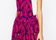 Mochi Pinafore Dress with Bright Embroidery