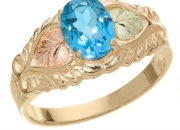 Blue topaz goldtone dress ring
