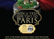 Win a 7 day trip to paris at car tyres and you
