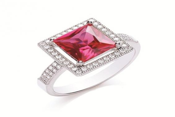 9-carat gold diamond solitaire ring