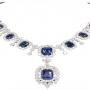 Brilliant Princess Cut Double Diamond Necklace