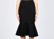 Nicholas Designer Ponti ruffle hem skirt at kokolu.com.au