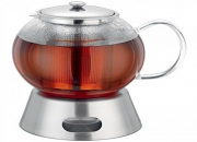 Avanti glass teapot with stainless steel tea light warmer base 5 cup / 1300ml