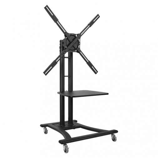 Telehook floor tv cart camera shelf