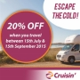 20% OFF Escape the Cold - Australia Road Tour Offer