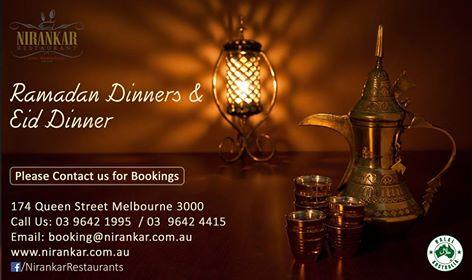 Ramadan and eid special dinners at nirankar restaurant
