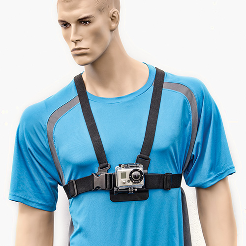 Chest strap mount for gopro hero and small action cameras by arkon