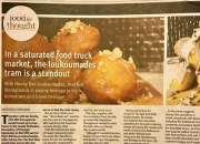 In a saturated food truck market, the loukoumades tram is a standout