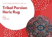 Tribal Persian Heriz Rug