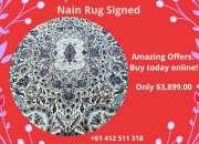Buy Superfine Persian Nain Rug Signed at Shoparug