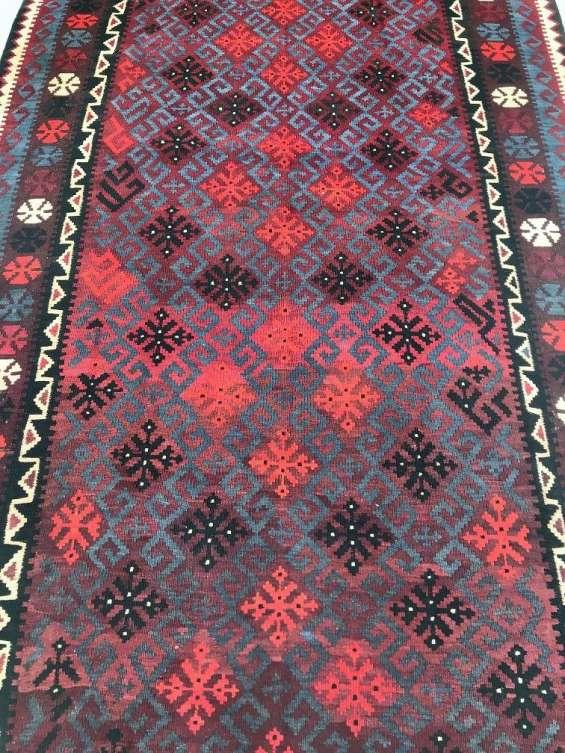 Buy rare decorative tribal design afghan kilim rug 260x157cm - shoparug