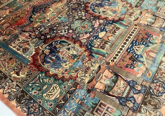 Large room size certified hand knotted persian wool rug at shoparug