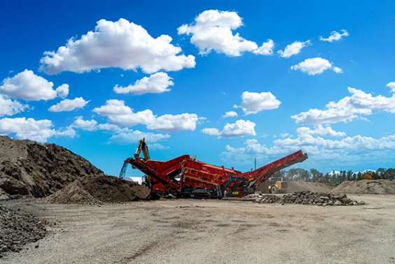 Certified construction waste recycling center in queensland