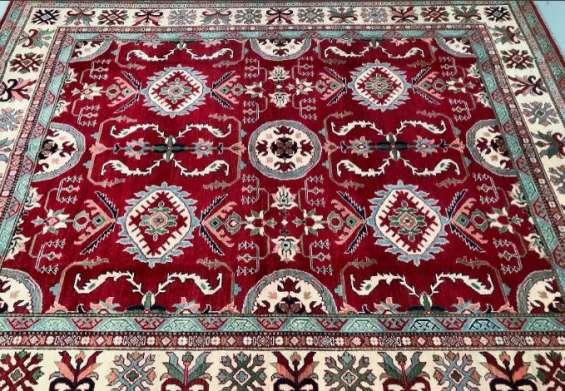 Buy certified handmade caucasian design kazak rug 304x250cm stunning square-ish for full r