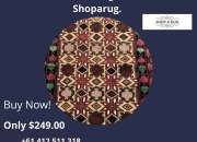 Buy this Latest Certified Hand Knotted Nomadic Balouchi Rug 131x90cm From Shoparug.