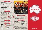 Dine in menu special offer at pizza hut orange