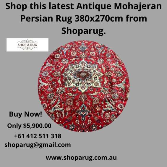 Shop this latest antique mohajeran persian rug 380x270cm from shoparug.